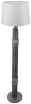 Stehleuchte Bianca - Grau, MODERN, Holz/Textil (40/150cm)