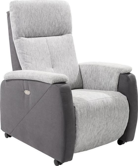 Tv-fotel Sf08 Maxi - szürke, modern, textil (76/113/90cm)