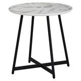 Beistelltisch D: ca. 50 cm Schwarz/ Weiß - Schwarz/Weiß, Design, Holzwerkstoff/Metall (50/50/50cm) - Carryhome