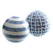 Dekokugel Maritim - Blau/Weiß, LIFESTYLE, Keramik (10cm)