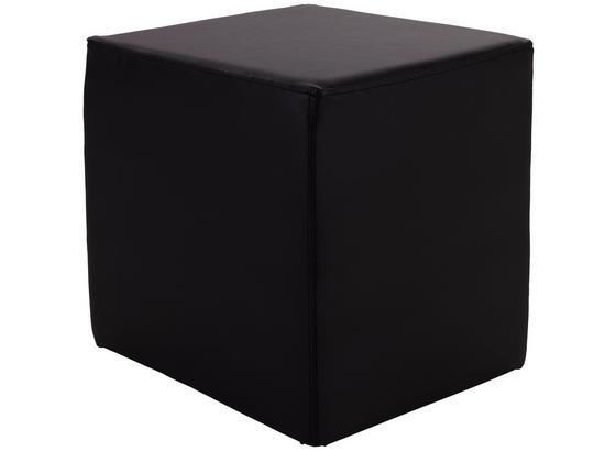 Taburet Betty - čierna, Basics, textil (45/45/45cm)