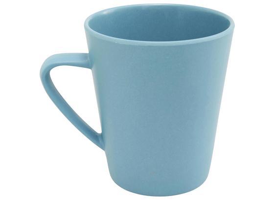 Hrnček Na Kávu Anabel - modrá, Natur, přírodní materiály/umělá hmota (8,5/9,5cm) - Zandiara