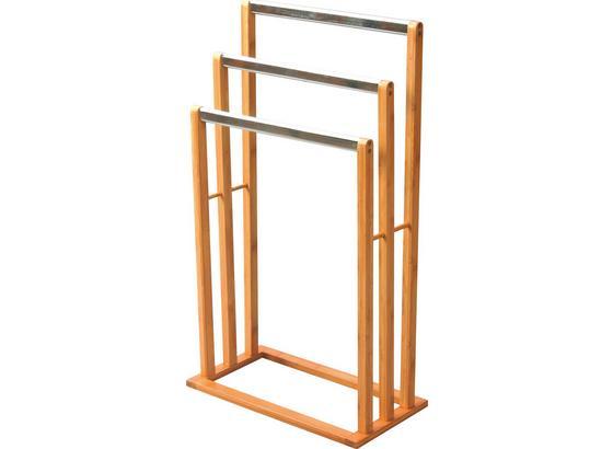 Držák Na Ručník Rose - přírodní barvy/barvy nerez oceli, Moderní, kov/dřevo (46,5/82/24,5cm) - Homezone