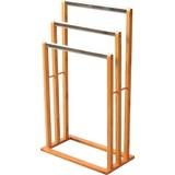 Handtuchhalter Rose - Edelstahlfarben/Naturfarben, MODERN, Holz/Metall (46,5/82/24,5cm)