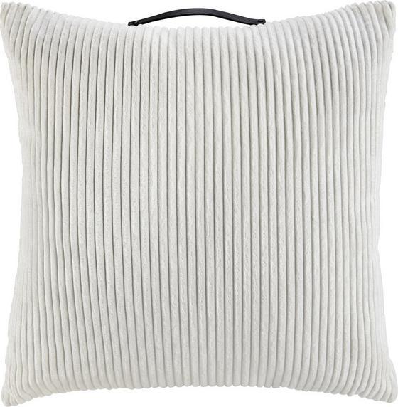Polštář Ozdobný Cordy - bílá, Moderní, textil (60/60cm) - MÖMAX modern living