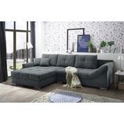 Wohnlandschaft Madrid ca. 197x315 cm - Anthrazit/Silberfarben, KONVENTIONELL, Holzwerkstoff/Textil (197/315cm) - Carryhome