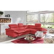 Wohnlandschaft in L-Form Driver 266x214 cm - Chromfarben/Rot, MODERN, Textil (266/214cm)