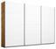 Schwebetürenschrank Belluno 271 cm Wotan/Weiß - Eichefarben/Weiß, MODERN, Holzwerkstoff (271/210/62cm)