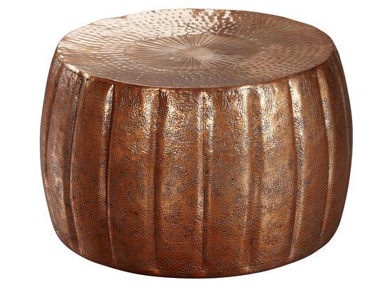 Runder Couchtisch Metall mit Ablage Jamal, Kupferfarben - Kupferfarben, LIFESTYLE, Metall (60/60/36cm) - Livetastic