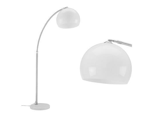 Stojacia Lampa Scarlett - biela/strieborná, Moderný, kov/plast (175/200cm) - Mömax modern living