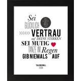 Bild Red Heart - Schwarz/Weiß, Basics, Glas/Holzwerkstoff (28/34/1,9cm)