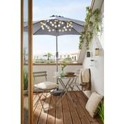Balkónová Súprava Nice - sivá/strieborná, kov - Mömax modern living