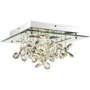 LED-Deckenleuchte Esmeralda - Chromfarben/Klar, MODERN, Glas/Kunststoff (35/35/19cm) - LUCA BESSONI