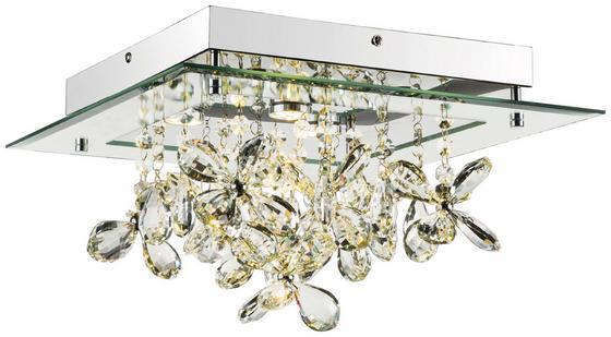 LED-Deckenleuchte Esmeralda - Klar/Chromfarben, MODERN, Glas/Kunststoff (35/35/19cm) - Luca Bessoni