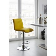 Barhocker Party Gelb - Chromfarben/Gelb, MODERN, Textil/Metall (43/91-112/54cm) - LUCA BESSONI