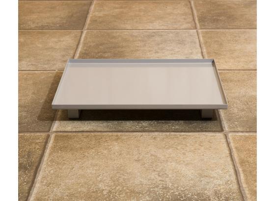 Saunazubehör Auffangschale für Saunaöfen - Silberfarben, MODERN, Metall (26/33cm)