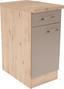 Küchenunterschrank Riva   Us50 - Champagner/Eichefarben, MODERN, Holzwerkstoff (50/85/57cm)