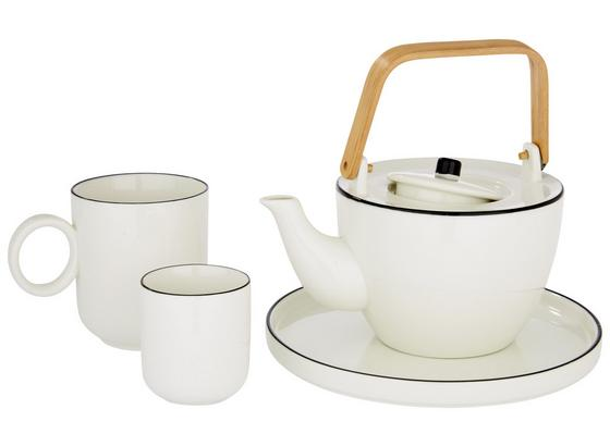 Hrnček Na Kávu Agnes - biela, keramika (5,2/9,5cm) - Premium Living