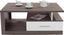 Stauraum-Couchtisch Iguan in Avola Dekor - Dunkelgrau/Weiß, MODERN, Holzwerkstoff/Kunststoff (110/45/67cm)