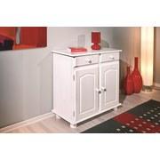 Kommode Lovi B: 88 cm Weiß Kiefer - Weiß, LIFESTYLE, Holz (88/87/43cm) - Carryhome