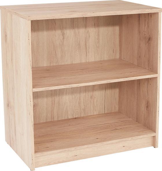 Regál 4-you Yur01 - barvy dubu, Moderní, dřevěný materiál (74/85,5/34,6cm)
