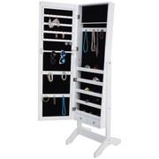 Schmuckschrank Lisi B: 43cm mit Spiegeltür und Inneneinteilung - Weiß, MODERN, Glas/Holzwerkstoff (43/146/41cm)
