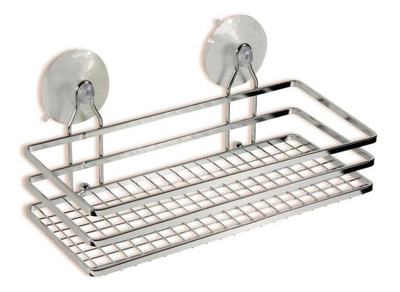 Sprchový Regál Milano 1 B991735 - barvy stříbra, Konvenční, kov (25/10/11,5cm) - Ombra