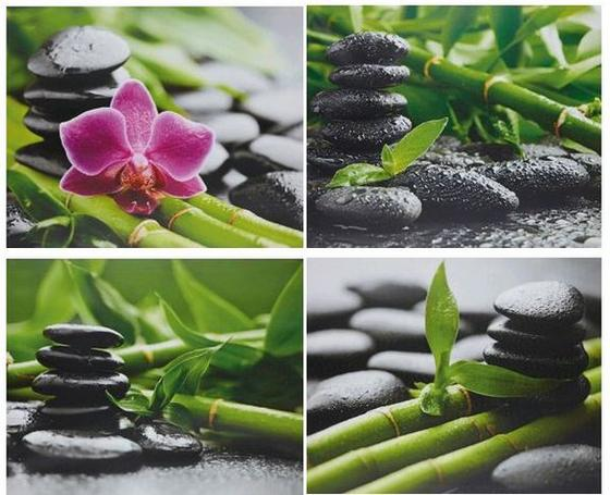 Obraz Zen - Multicolor, Lifestyle, dřevo/textil (40/50/1,8cm) - MÖMAX modern living