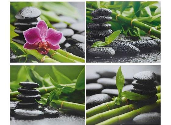 Obraz Zen - viacfarebná, Štýlový, drevo/textil (40/50/1,8cm) - Mömax modern living