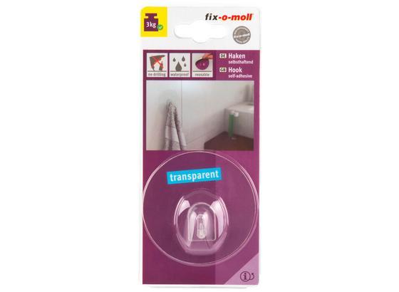 Selbstklebehaken DM: 68mm - Transparent, Kunststoff (6,8cm) - Suki