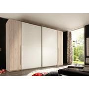 Schwebetürenschrank Match 2 B: 315 cm Buchefarben - Buchefarben/Weiß, Design, Holzwerkstoff (315/225/61cm) - Carryhome
