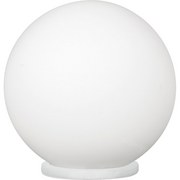 LED-Tischleuchte Rondo - Weiß, MODERN, Glas/Kunststoff (20/20cm)