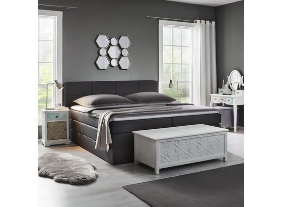 Postel Boxspring Greta - tmavě šedá, Moderní, dřevo/textil (213/186/106cm) - Mömax modern living