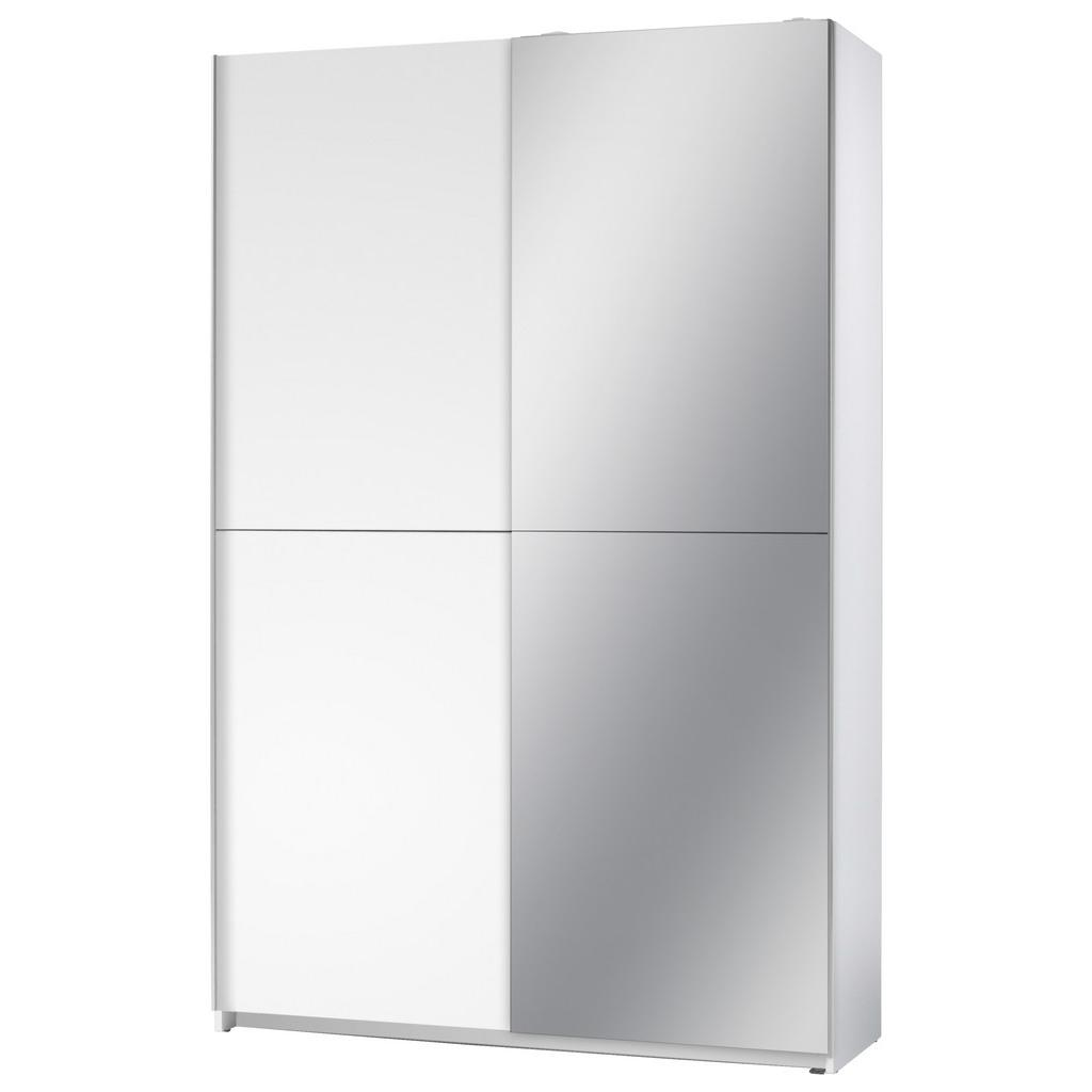 Skříň S Posuvnými Dveřmi Slim 125 Cm Bílá