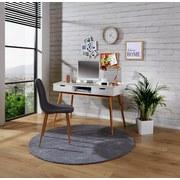 Písací Stôl Malmo - prírodné farby/biela, Moderný, drevený materiál/drevo (120/80/55cm) - Ombra