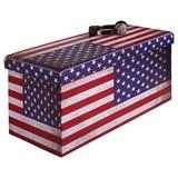 Sitzbox America - Multicolor, MODERN, Holzwerkstoff/Textil (76/38/38cm)