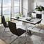Jedálenský Stôl Metz 160 - biela/farby ušľachtilej ocele, Moderný, kov/kompozitné drevo (160/76/90cm)