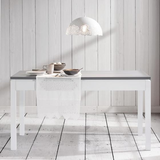 Jedálenský Stôl Liana - sivá/biela, Moderný, drevo (150/80/79,5cm) - Mömax modern living