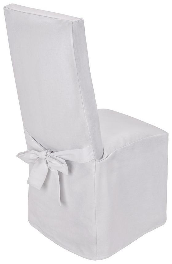 Stuhlhusse Nadja - Weiß, KONVENTIONELL, Textil (40/110/40cm) - Ombra