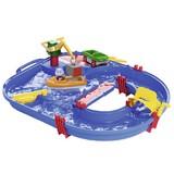 Wasserbahn Badespielzeug - Blau/Multicolor, KONVENTIONELL, Kunststoff (65/65/22cm)