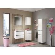 Badezimmerspiegel Arezzo B: 60 cm Weiß - Weiß, Basics, Holzwerkstoff (60/64/2,5cm) - Livetastic