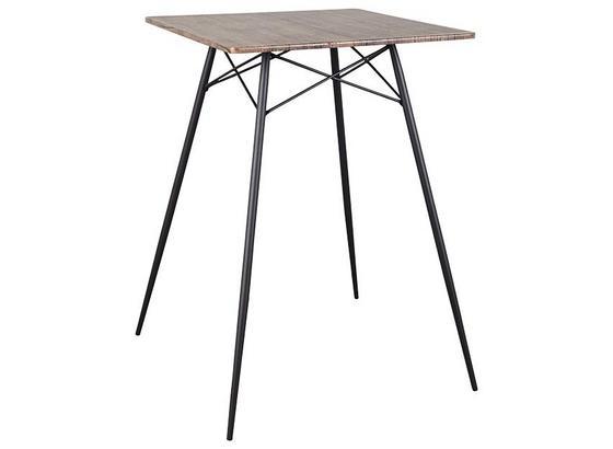 Barový Stůl Jack - černá, Natur, kov/kompozitní dřevo (70/103/70cm)