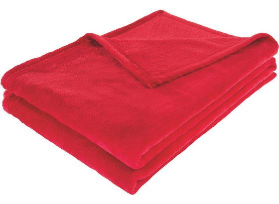 Deka Kuschelix -ext- -top- - červená, textilie (140/200cm)