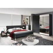 Doppelbett im Lederlook 180x200 Moita, Grau - Chromfarben/Grau, Design, Holzwerkstoff/Textil (180/200cm) - Xora