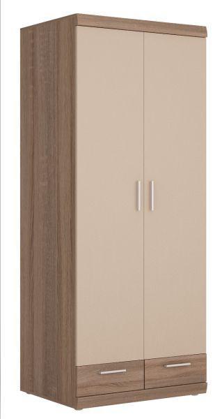 Ruhásszekrény Imperial - pezsgő szín/trüffel tölgy dekor, konvencionális (80/195/38cm)