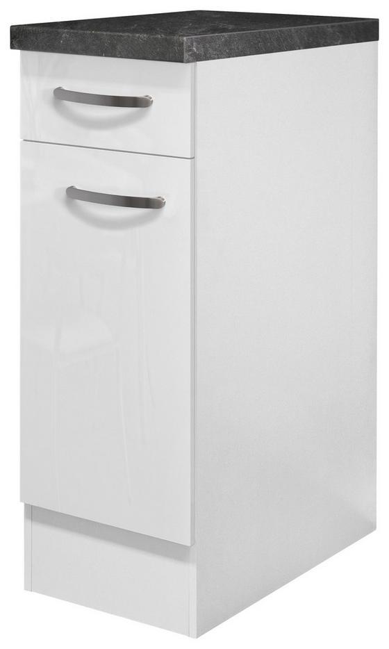 Kuchyňská Spodní Skříňka Alba  Us30 - bílá, Moderní, dřevěný materiál (30/85/57cm)