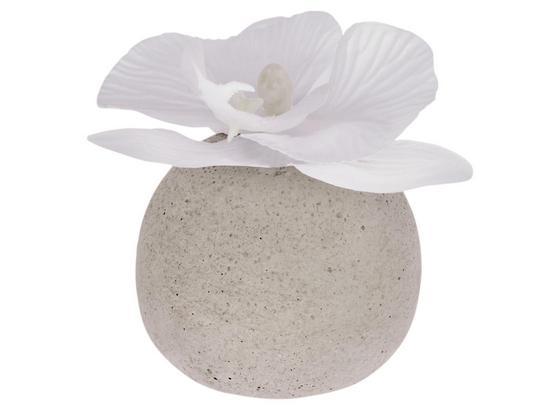 Rostlina Umělá Ines - bílá, umělá hmota (9cm)