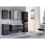 Spiegelschrank mit Türdämpfer + Led Arezzo B: 100cm, Graphit - Graphitfarben/Silbereichenfarben, Basics, Glas/Holzwerkstoff (100/64/20cm) - MID.YOU