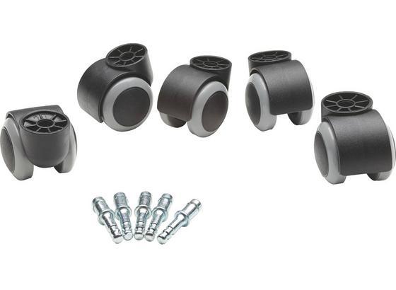 Otočné Koliesko Na Stoličku Filo          -sb- - čierna/sivá, Basics, kov/plast