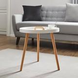 Príručný Stolík Uta - biela/farby pínie, Moderný, drevo (49,5/49,5cm) - Mömax modern living
